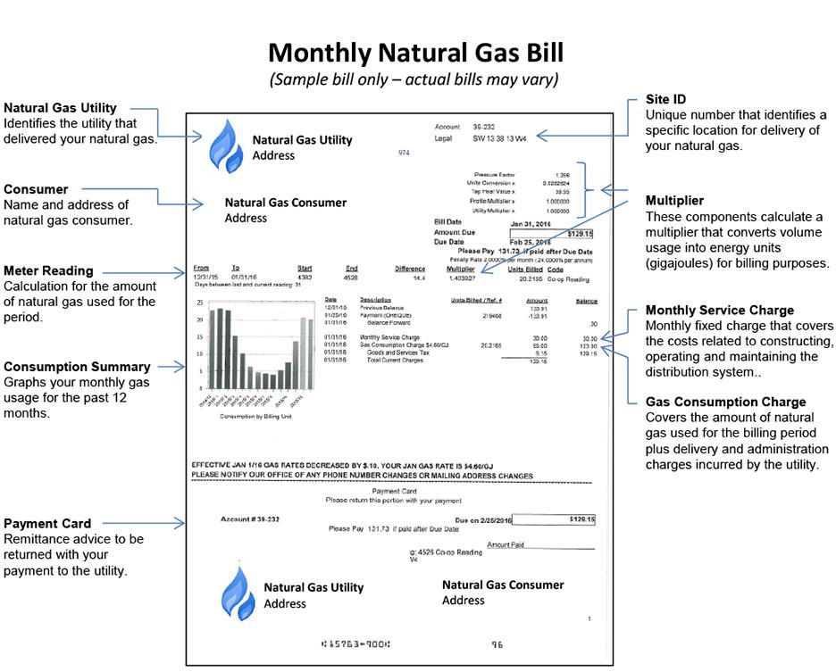 understanding your natural gas bill. Black Bedroom Furniture Sets. Home Design Ideas